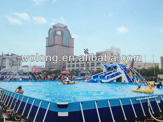 Inflatable pool/bouncy swimming pool with steel frame