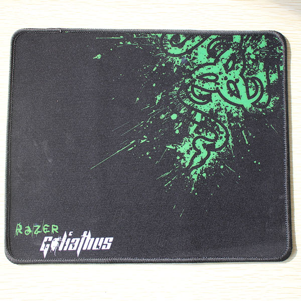 Large Size Neoprene Custom Gaming Rubber Razer Mouse Pad with Stitching Edges