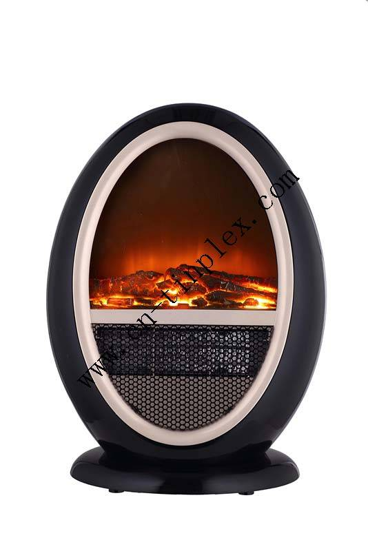 Portable mini modern Fashionable circle electric fireplace stove heater