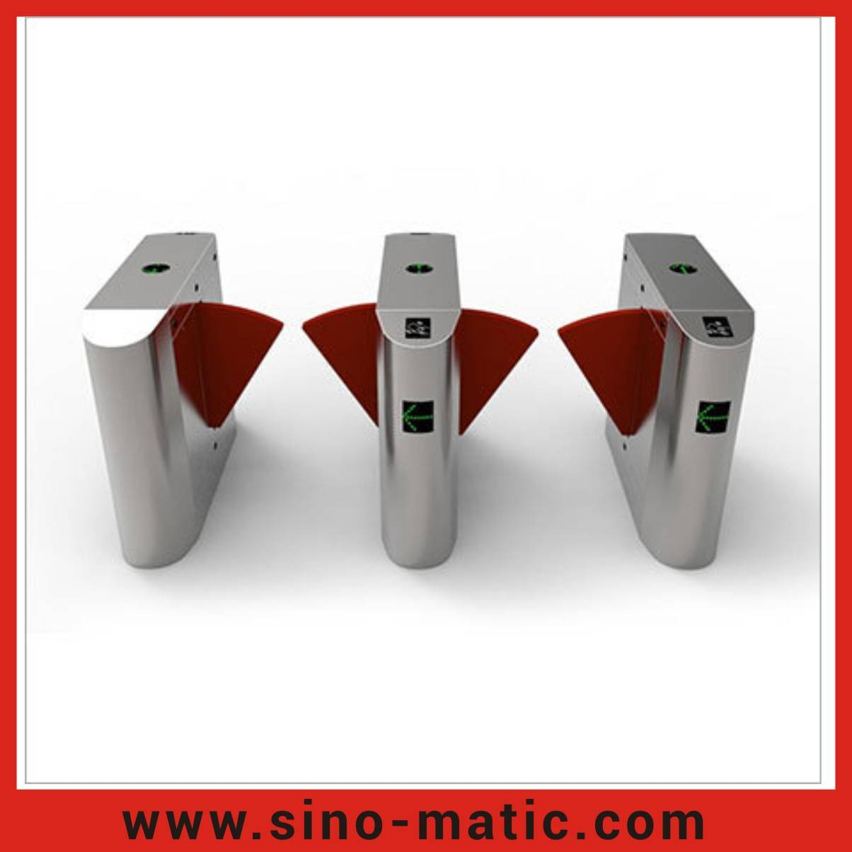 Access Control Flap barrier gate with LED light indicator