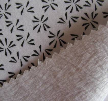 150D plain mechanical strectch fabric+tpu+fleece