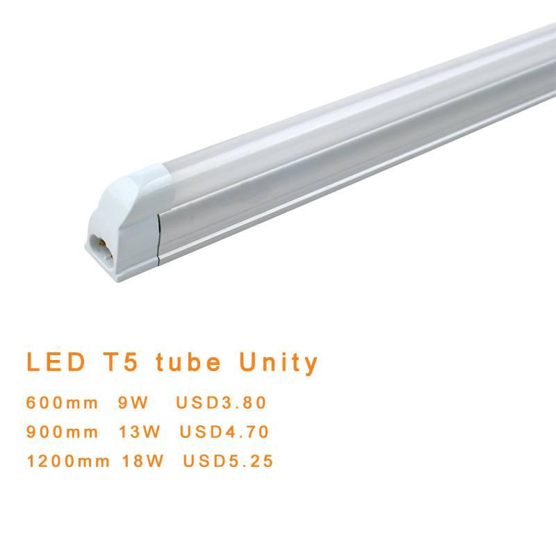 LED tube light T5 unity 900mm 13W SMD3014 AC85-265V USD4.7