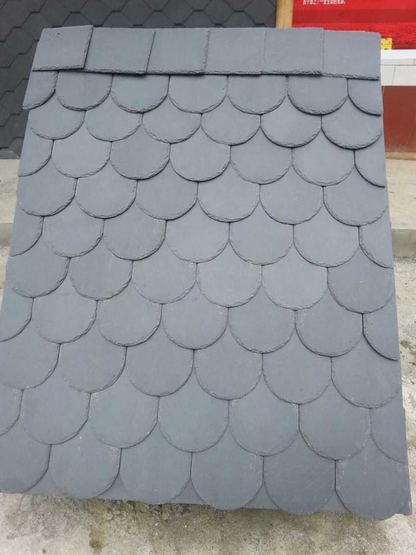 black natural slate stone roof stone tiles