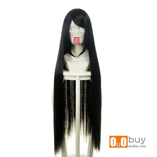 Selling Touhou Gensoukyon Project Reiuzi Utsuho Houraisan KaguyaBlack Long Straight Cosply Wig