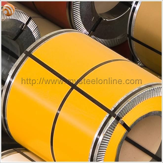 Rape Yellow Prepainted Steel Coil PPGL