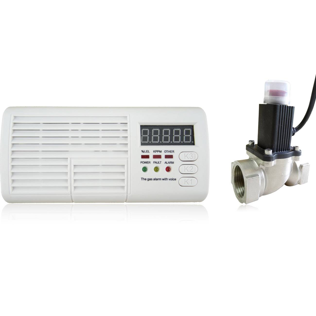 Smart Gas Detector with Digital Display & Solenoid Valve