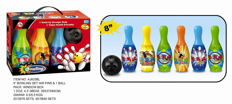 Plastic bowling toys
