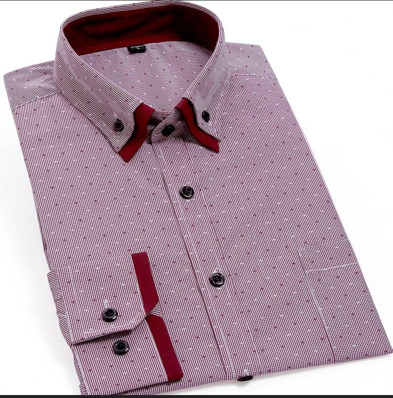 men's printing dress shirt