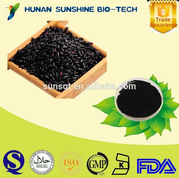 High quality Black rice extract powder 5%-40% Cyanidin-3-O-Glucoside CAS No.7084-24-4