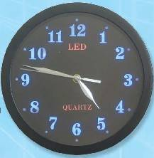 LED WALL CLOCK, QUARTZ CLOCK