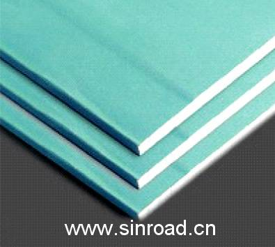 Moistureproof paper faced plasterboard