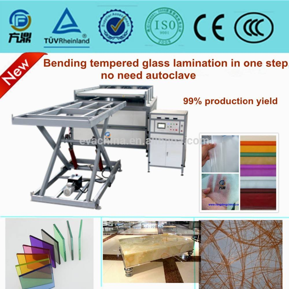 EVA film laminated glass machine without autoclave