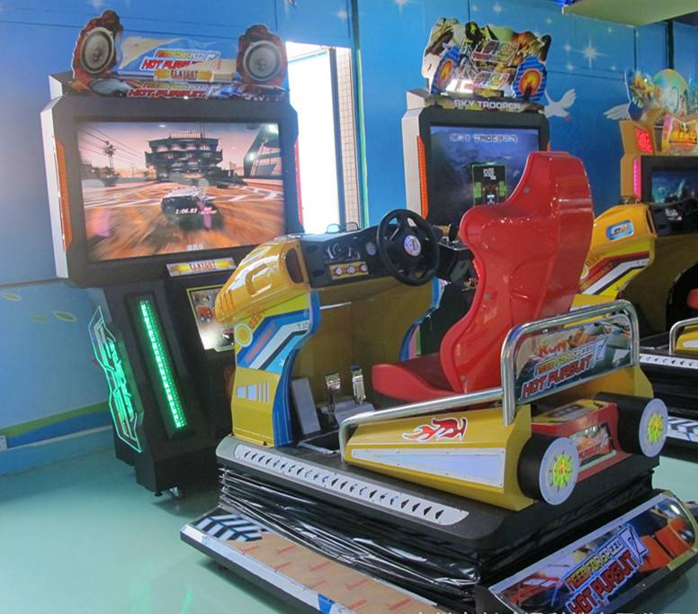 Coin Operated Adults Flatout Racing Game Machine All Dynamic Racing Game Machine