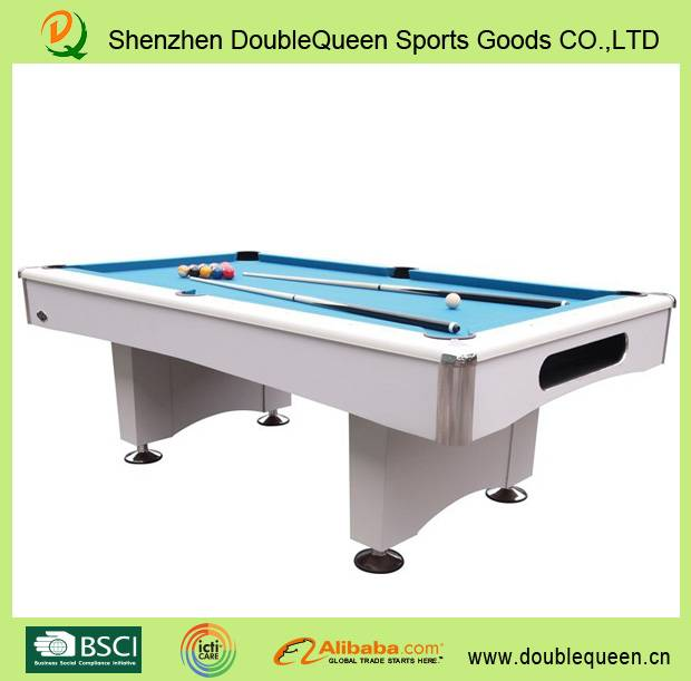 2015 hot sell products modern pool table with white cloth