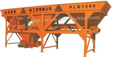 PL1200 concrete batching machine,3 hopper batching machine,stone batching machine,sand batching mac