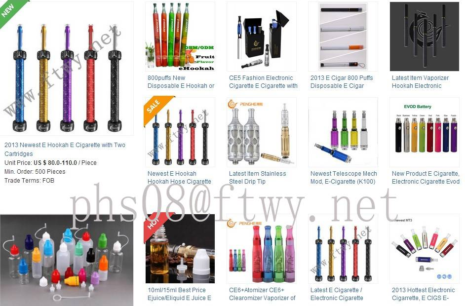 Electronic Cigarettes, E-Cigarettes, E-Cigars