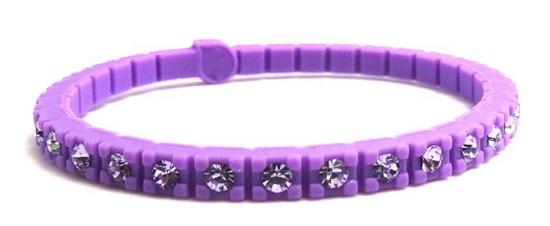 2013 new MUST-HAVE designer inspired silicone crystal tennis bracelet