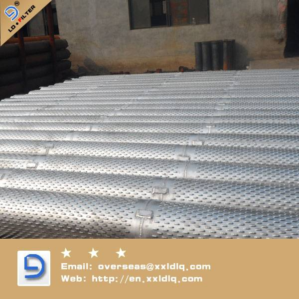Low Carbon Galvanized bridge type screen pipe