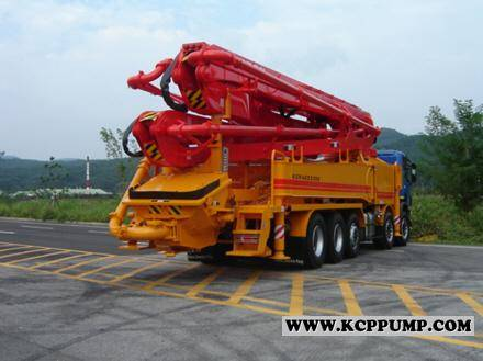 New Concrete pump mixer and used