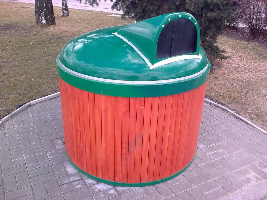 Submerged waste-collection containers