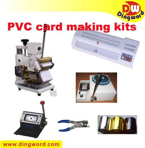 PVC card making full package, Embosser, Hot stamping tipper