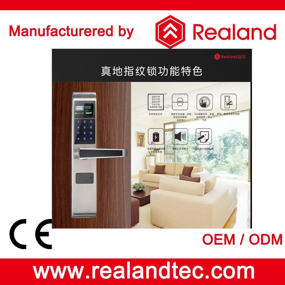 New Arrival Realand F1 Biometric Digital Fingerprint Keyless Door Lock Manufacture