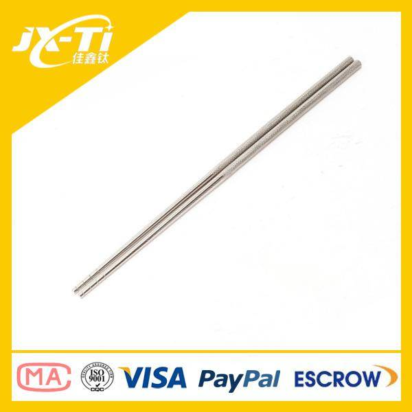 ultralight weight Round Solid Titanium chopsticks