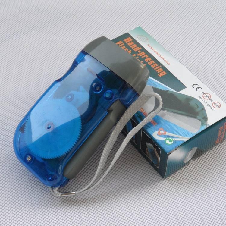 hand pressure power generation Flashlight 3LED