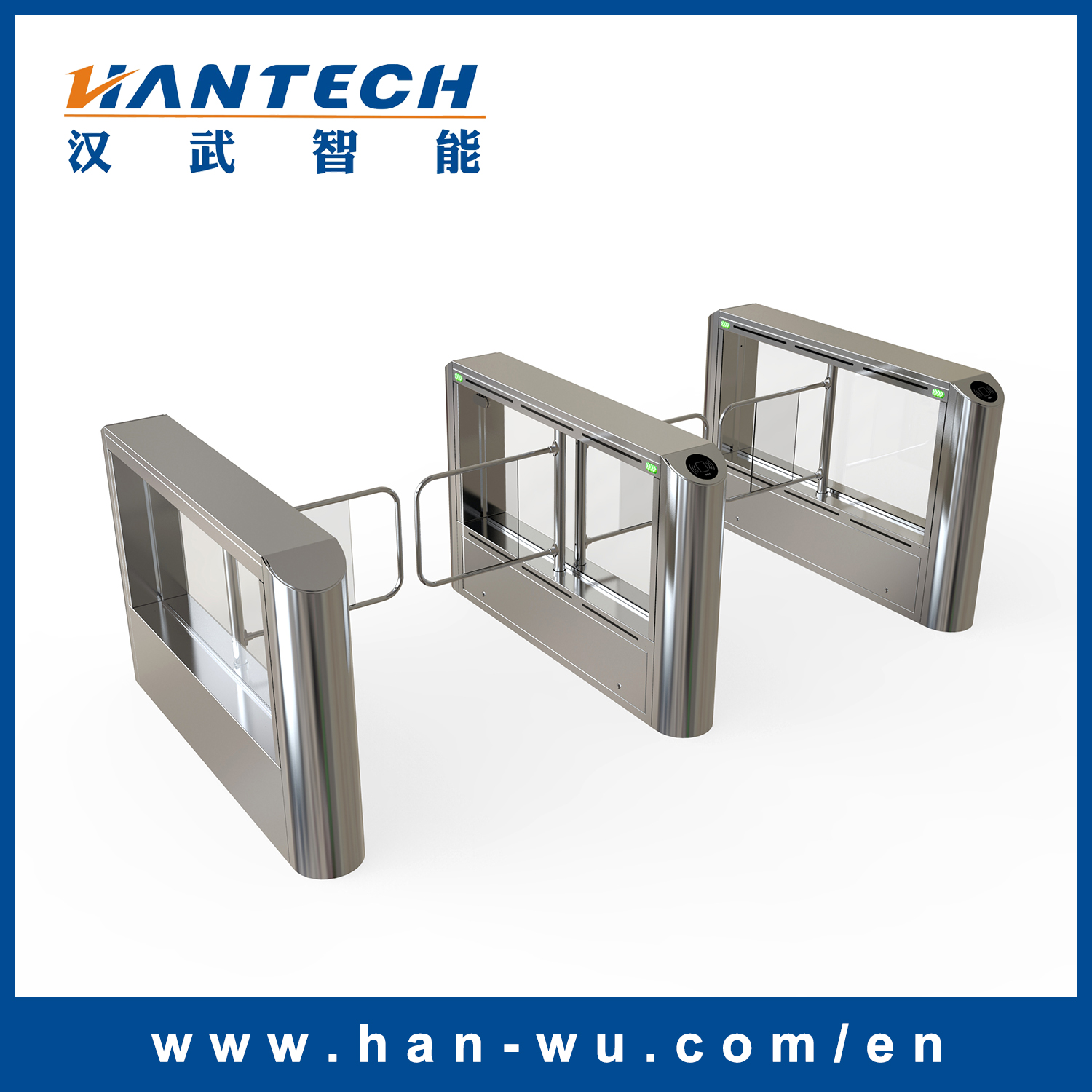 Security Access Control Swing Barrier Gate for Office Buildings Entrance/Exit System