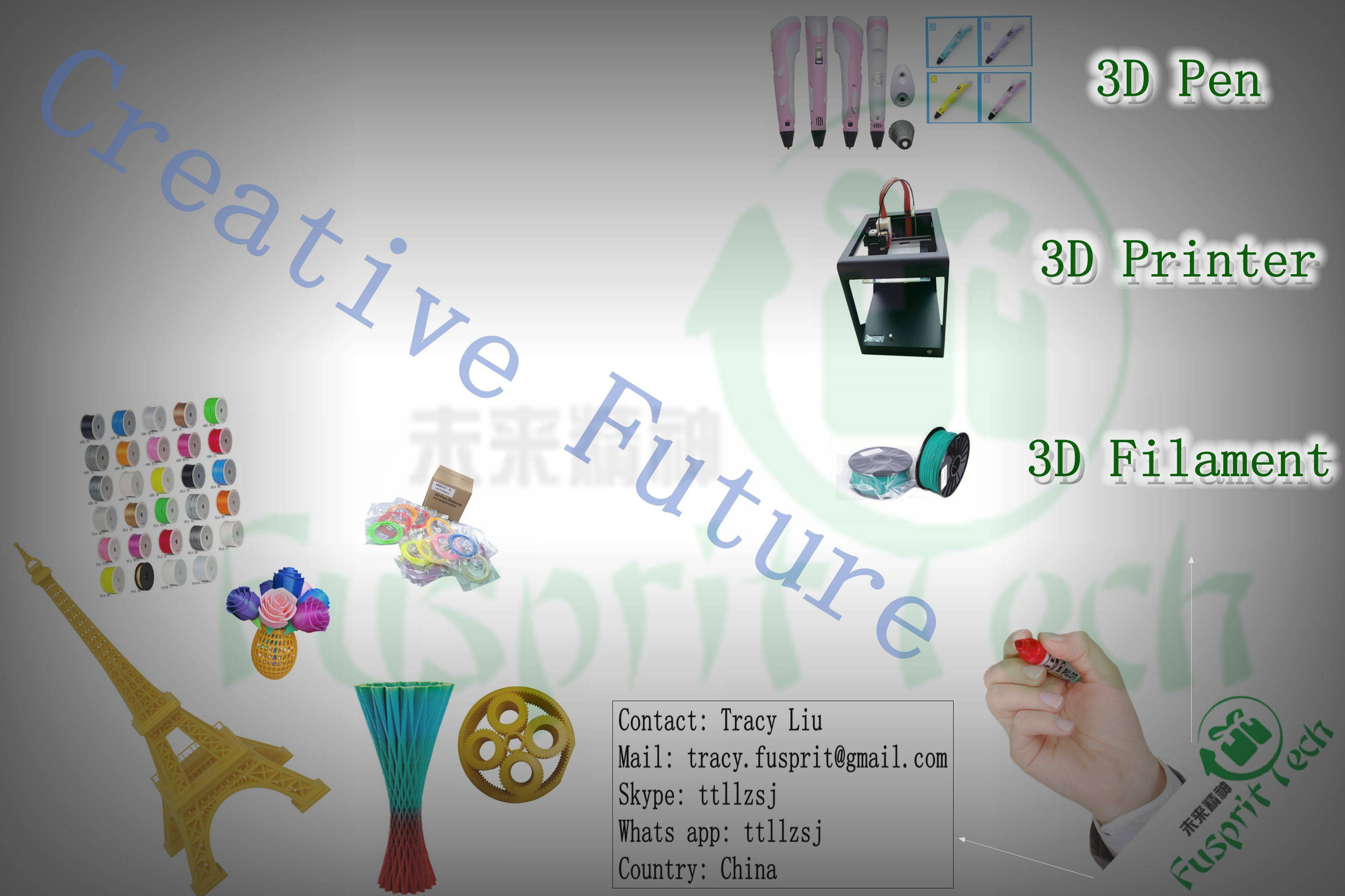 Provide 3D printer,3D pen, 3D filament with competitive price and best service