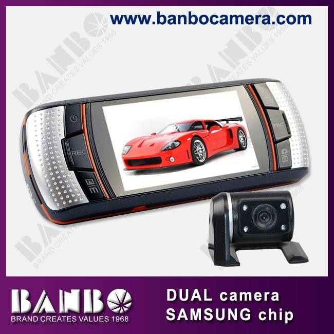 2.7 inch dual lens 1080P black box for car