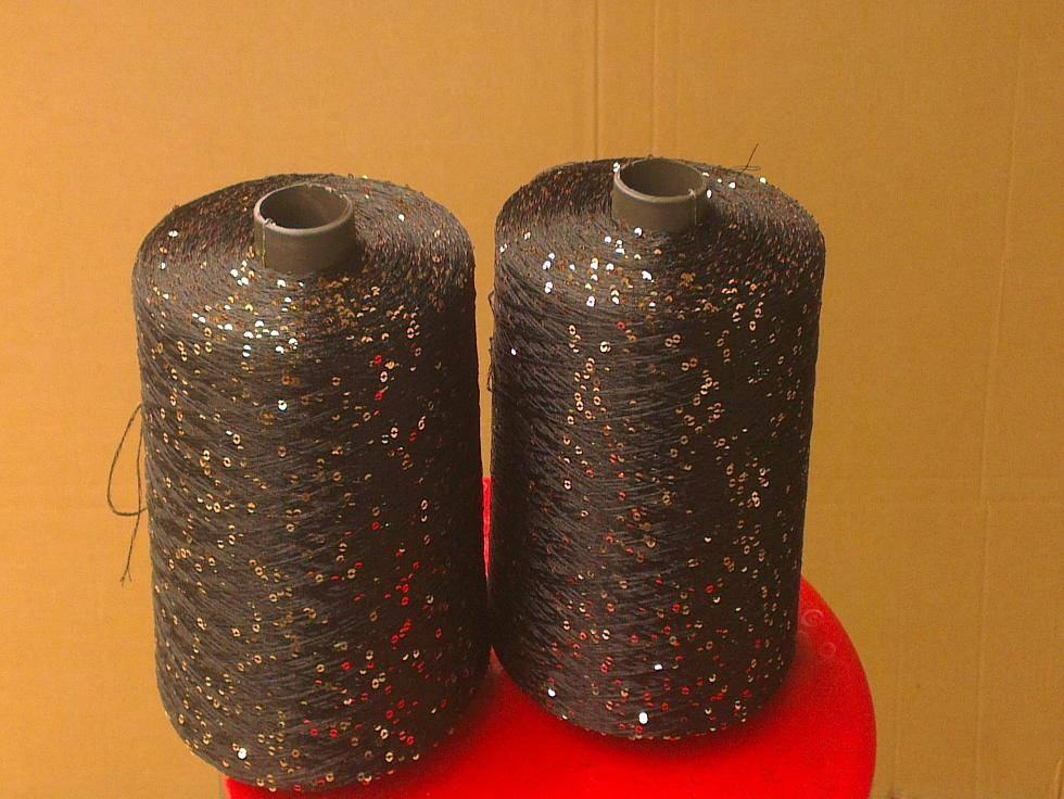 100% polyester sequin yarn for fancy knitting loomage and embroidery