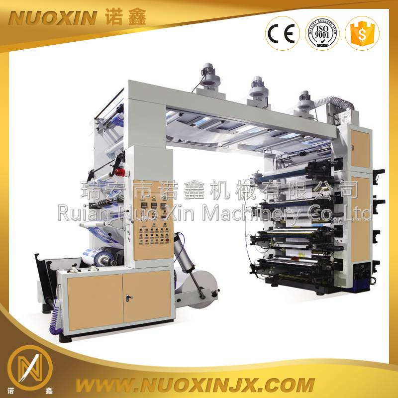 8 Color kraft paper flexographic printing machine high speed