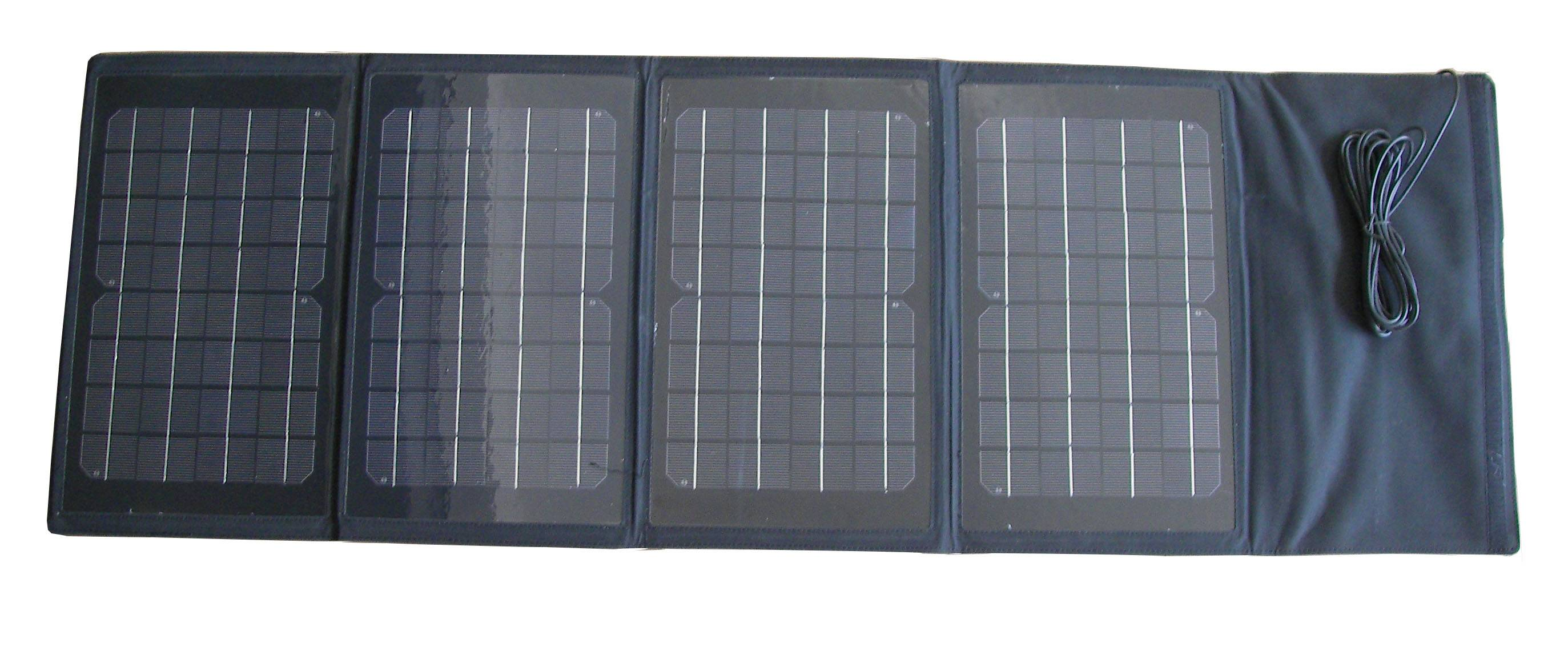 40W Folding Portable Solar Panel Charger Bag for Laptop, Mobile Phone, iPhone 5 4 4s, MP3, MP4, iPad