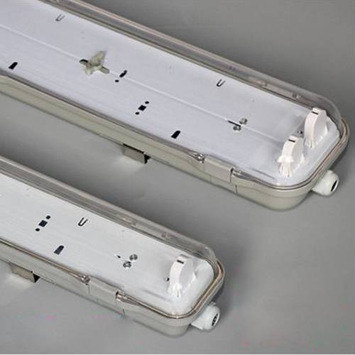 110lm/w t8 1200mm 2x18w 4ft IP65 tri proof led tube light fixture with 5 years warranty