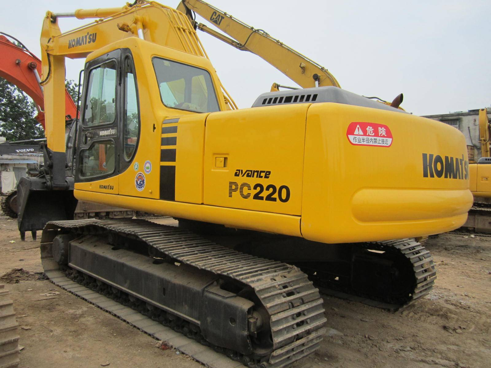 Used komatsu pc220-6 excavator for sale