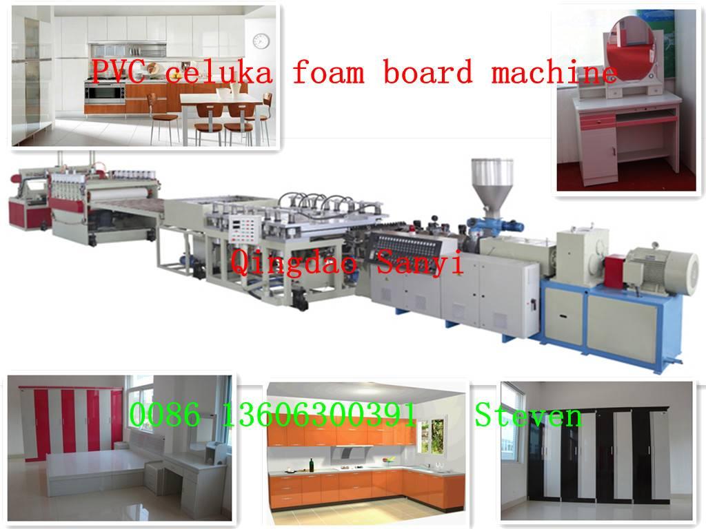 pvc celuka foam board machine