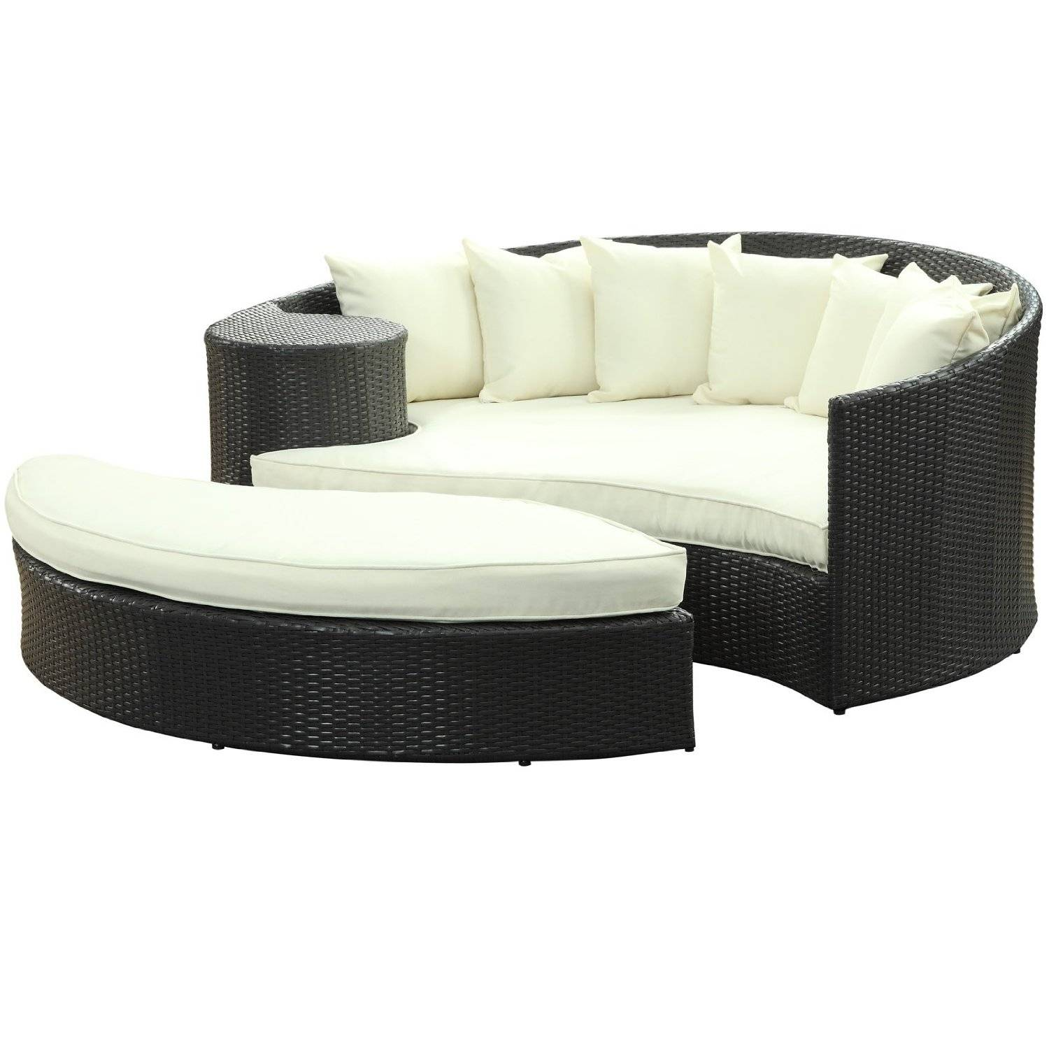Outdoor Leisure Sectional Sofa, Rattan Daybed