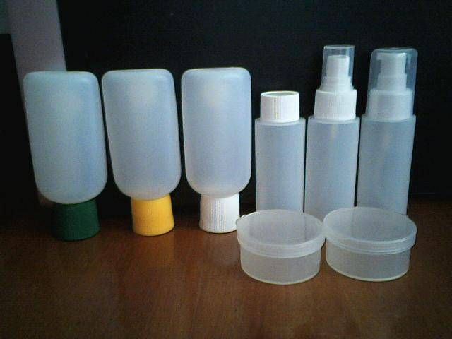 Supply of travel make-up bottles
