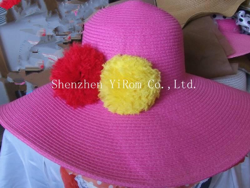 YRLS13001 straw hat, paper straw hat, beach hat