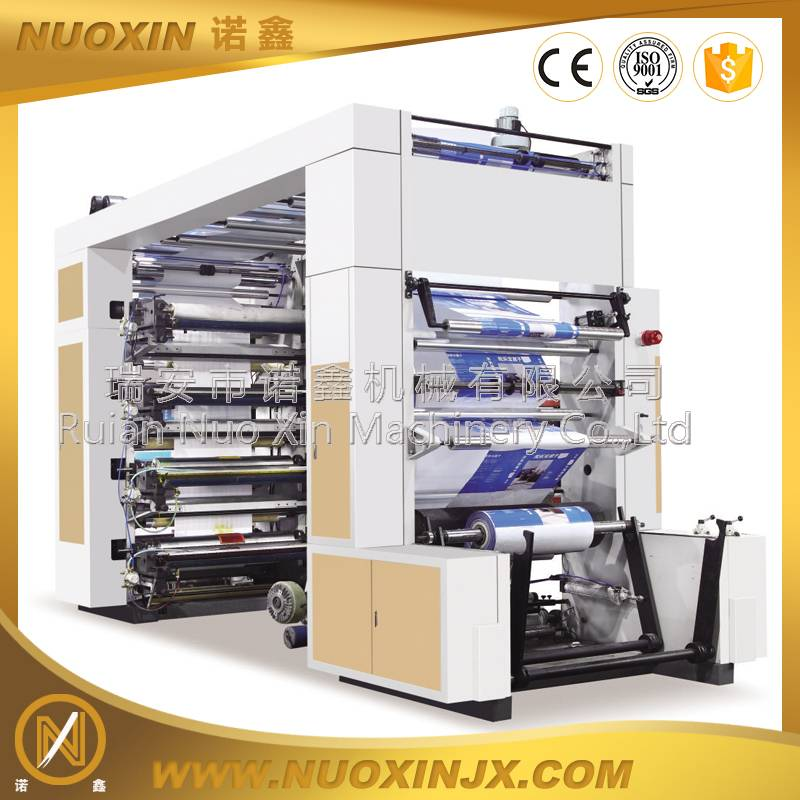 NX-81000 8color high speed timing belt drive flexographic printing machine