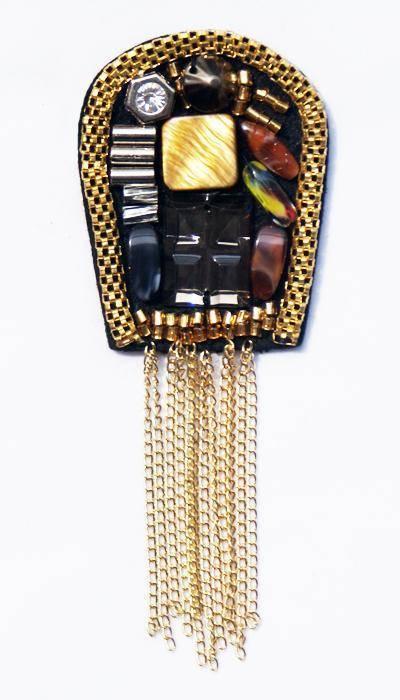 Punk Style Metal Brooch