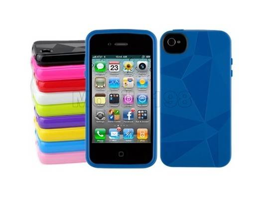 Protective PU Leather Case for iPhone 4/4S Black