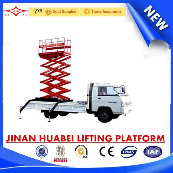 vehicle mounted elevating platform