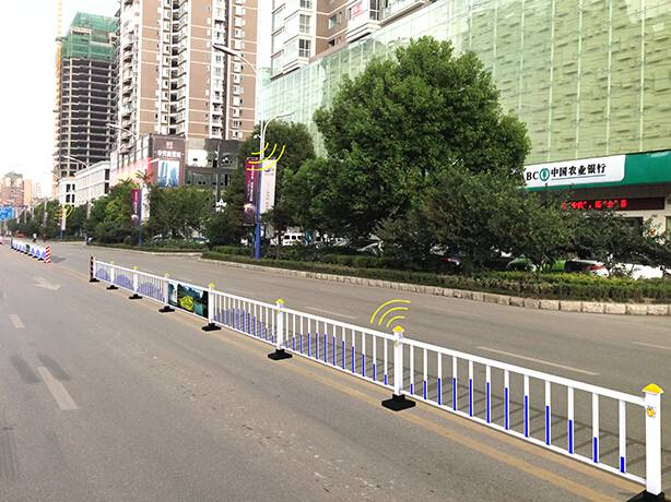 smart fence for road isolation
