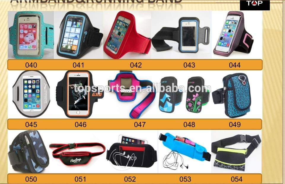Wholesale all kinds of armband outdoor sports armband