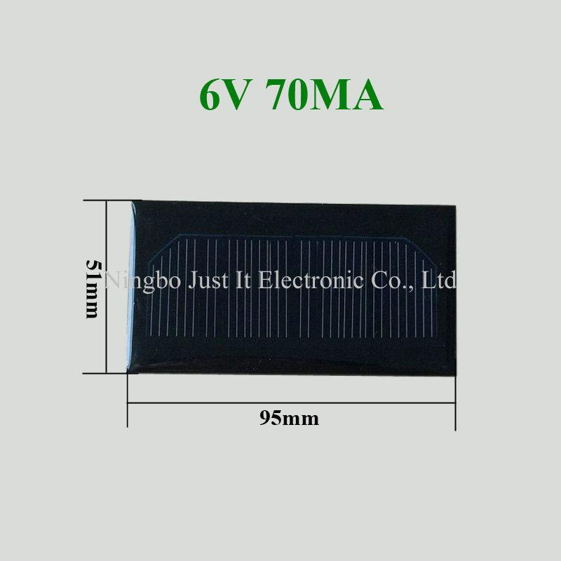 6V 70mA 0.42W 95x51mm Custom Mini Solar Panel