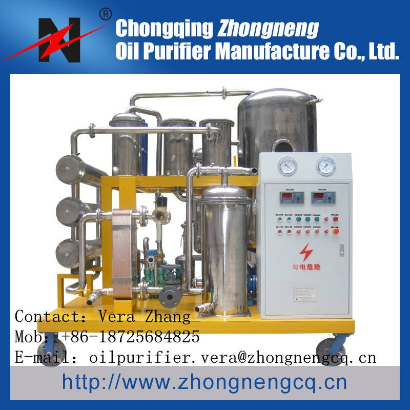TYA-I series Phosphate Ester Fire-Proof Oil Purification Machine/Used Hydraulic Oil purifier