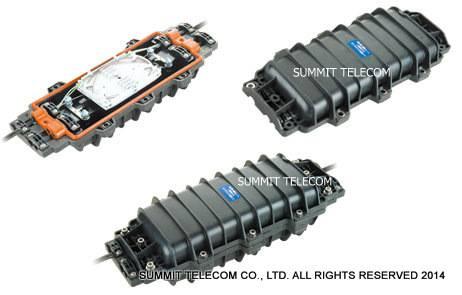 Fiber Optic Splice Closure, FOSC, Horizontal Splicing Closure, Cold Applied Fiber Optic Enclosure