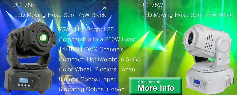 Lyre Spot DMX LED 75W Black,LED Moving Head Spot 75W 14 degree 14CH